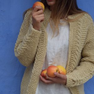 Hand knitted wool jacket